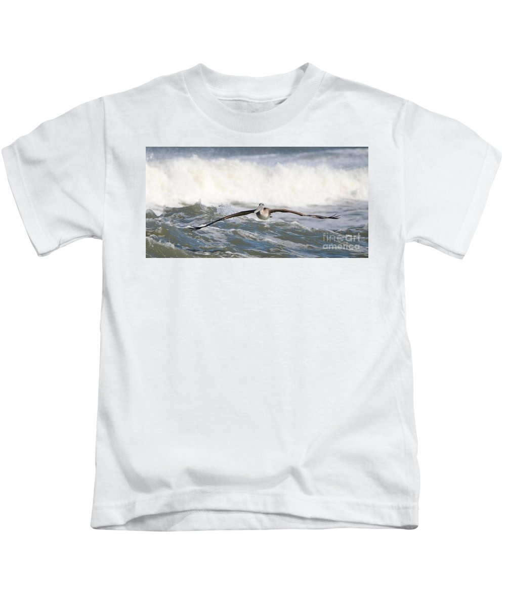 Pelican Kids T-Shirt featuring the photograph Pelican 4057 by Jack Schultz