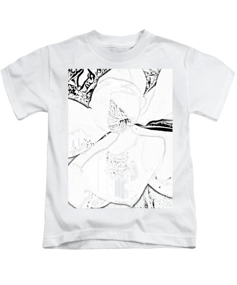 Pencil Drawing Kids T-Shirt featuring the digital art Pencil Me In by Tina Vaughn