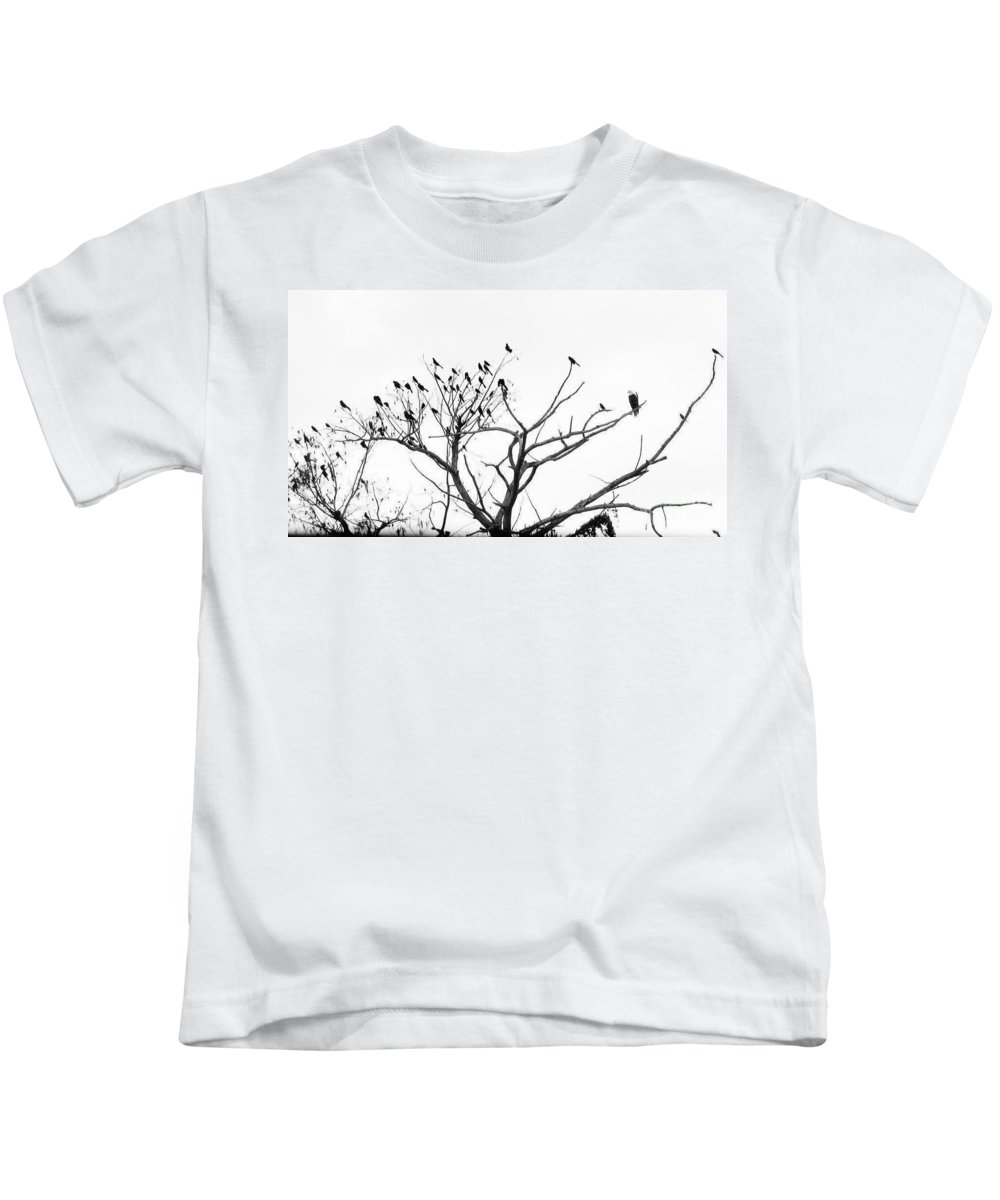 Keri West Kids T-Shirt featuring the photograph Perched Majestically by Keri West