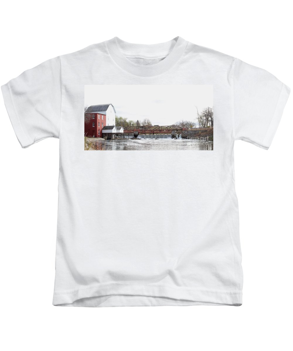 Mill Kids T-Shirt featuring the photograph Phelps Mill by Lori Tordsen