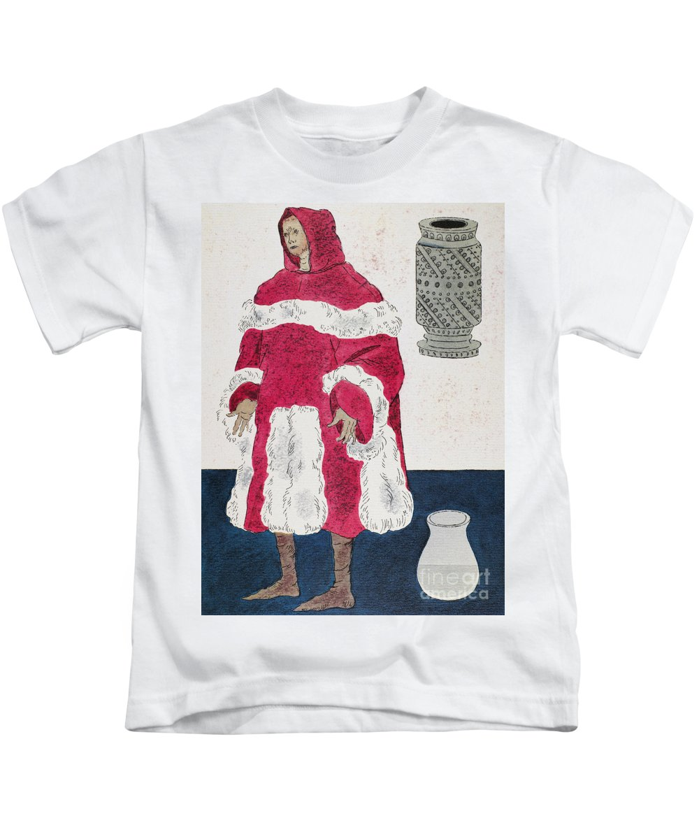 15th Century Kids T-Shirt featuring the photograph Physician, 15th Century by Granger