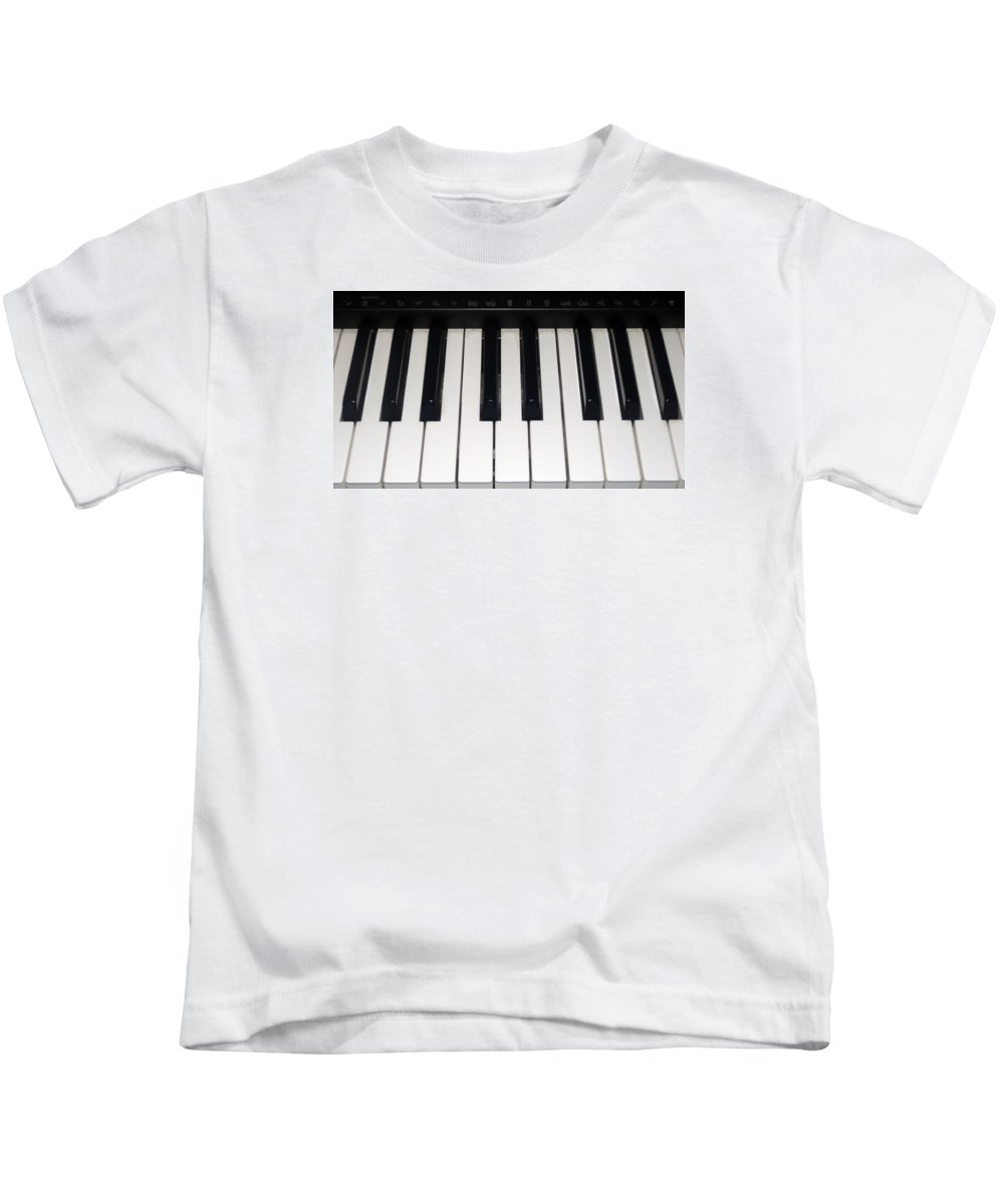 Piano Kids T-Shirt featuring the photograph Piano by FL collection