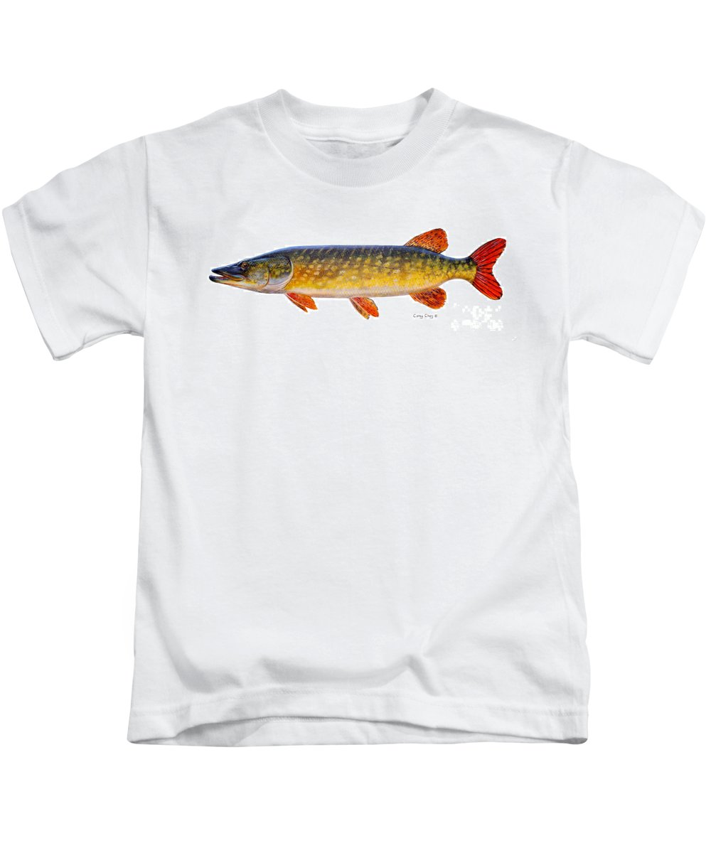 Pick Kids T-Shirt featuring the painting Pike by Carey Chen