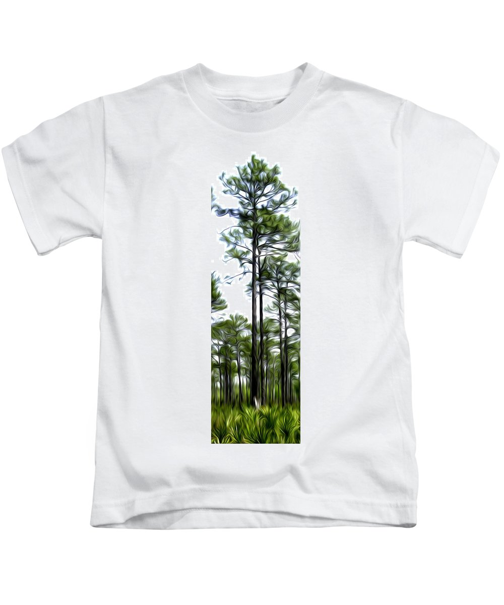 Pine Kids T-Shirt featuring the photograph Pixelated Pine by James Ekstrom