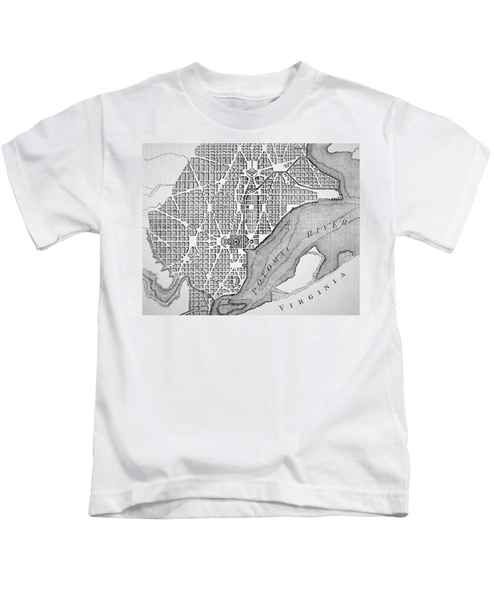 Columbia River Drawings Kids T-Shirts