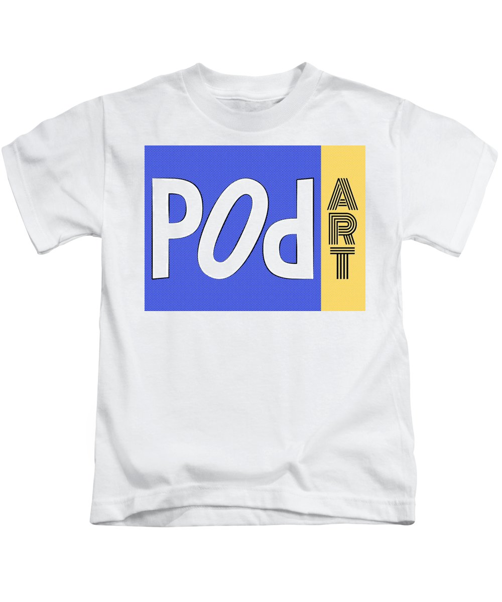 Pop Kids T-Shirt featuring the painting Pop Art Words 04 by Jo Roderick