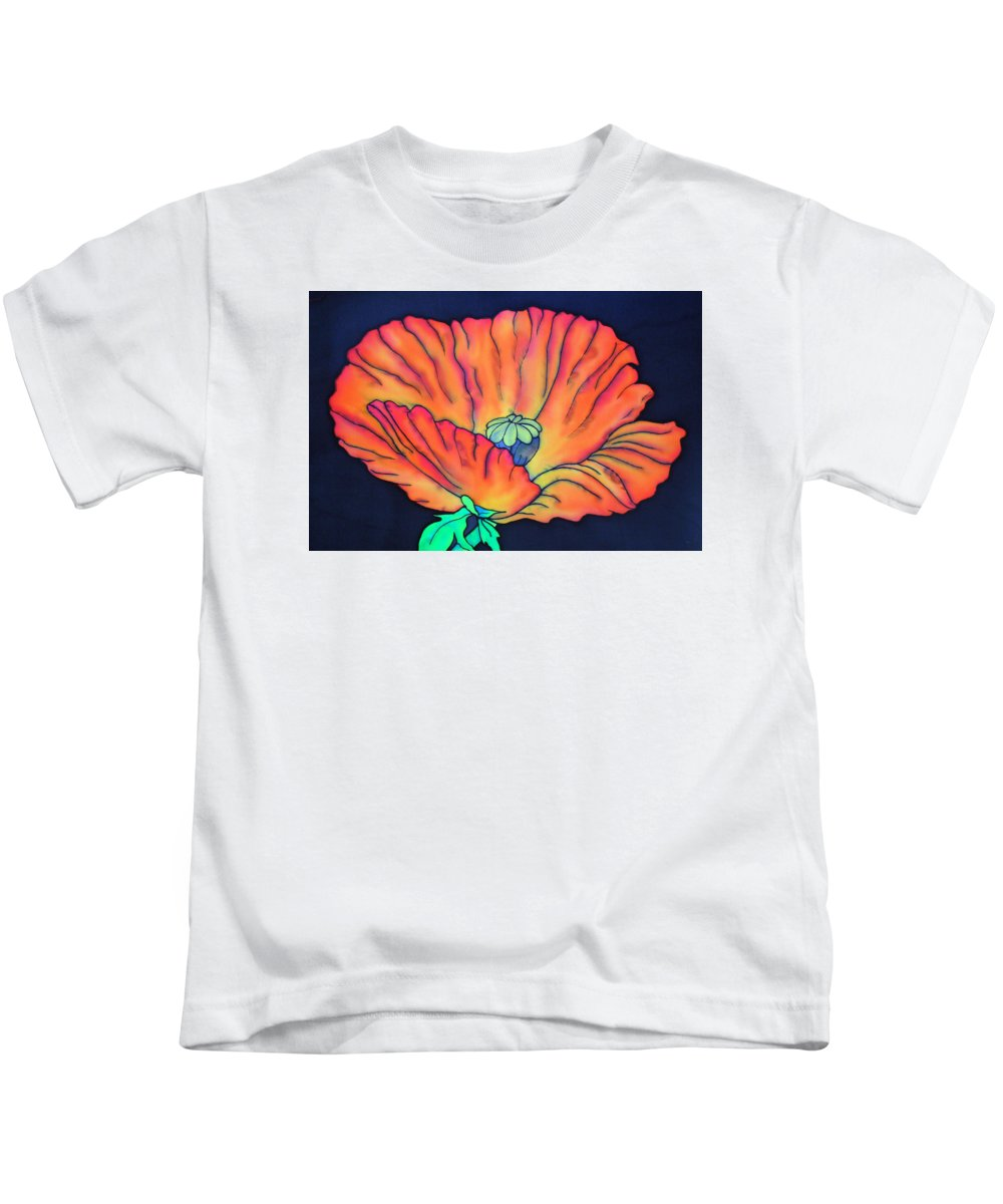 Poppy Kids T-Shirt featuring the painting Poppy I by Ursula Schroter