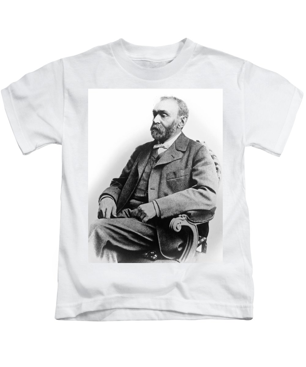 1893 Kids T-Shirt featuring the photograph Portrait Of Alfred Nobel by Underwood Archives