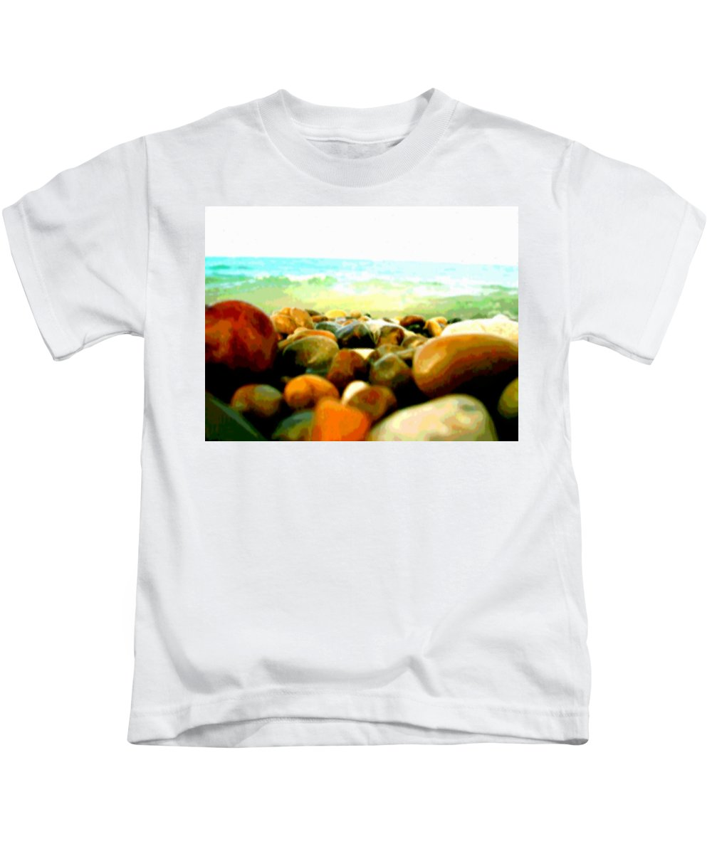 Photo Kids T-Shirt featuring the photograph Prehistoric Surface 2 by Marcello Cicchini