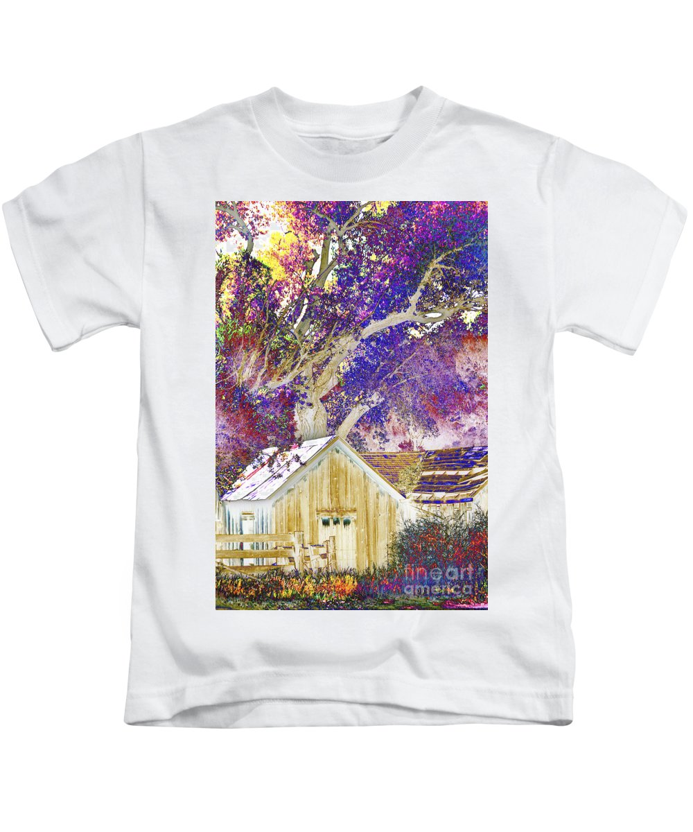 Barn Kids T-Shirt featuring the photograph Psychodelic Barn by Paul W Faust - Impressions of Light