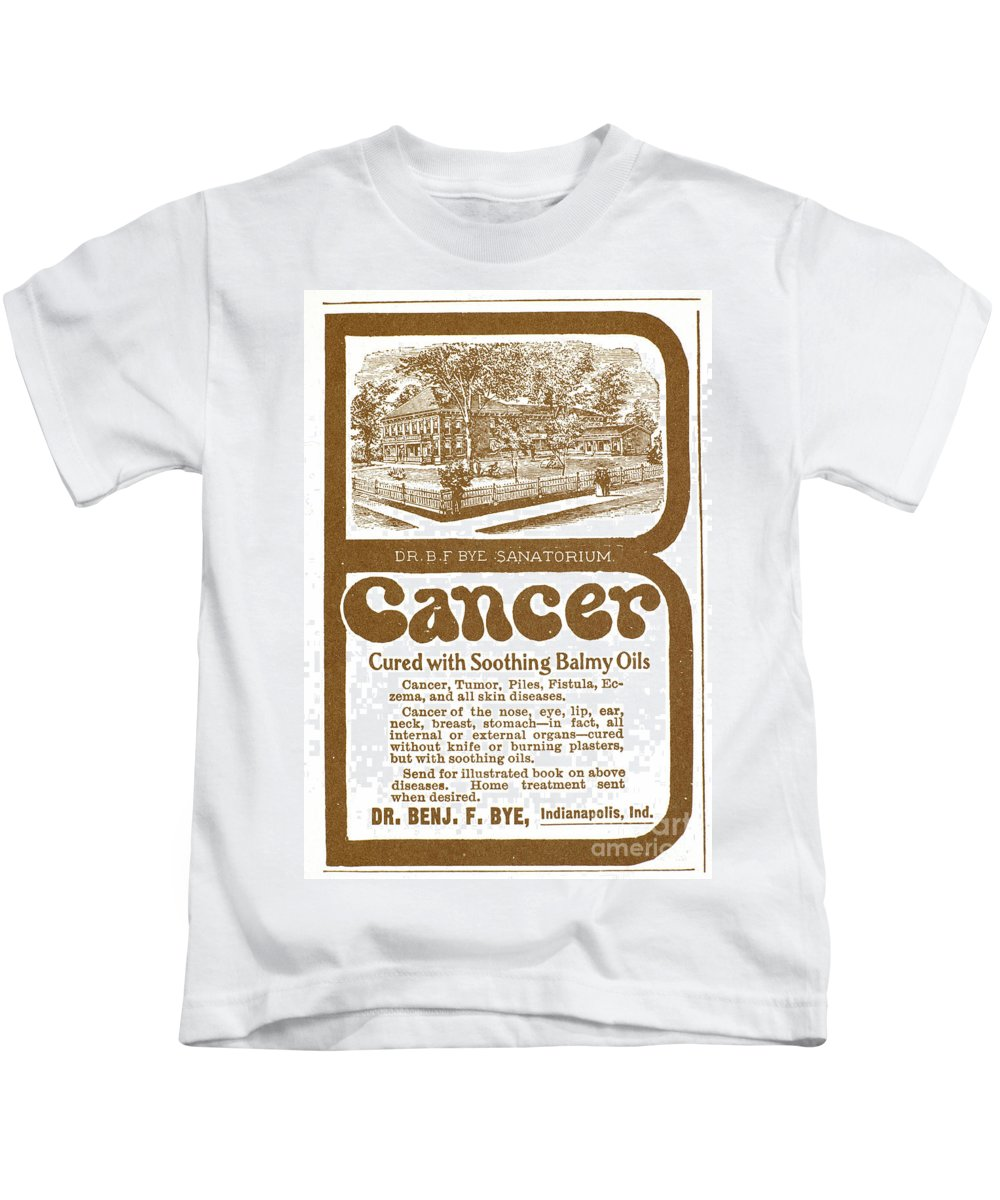 19th Century Kids T-Shirt featuring the photograph Quack Advertisement by Granger