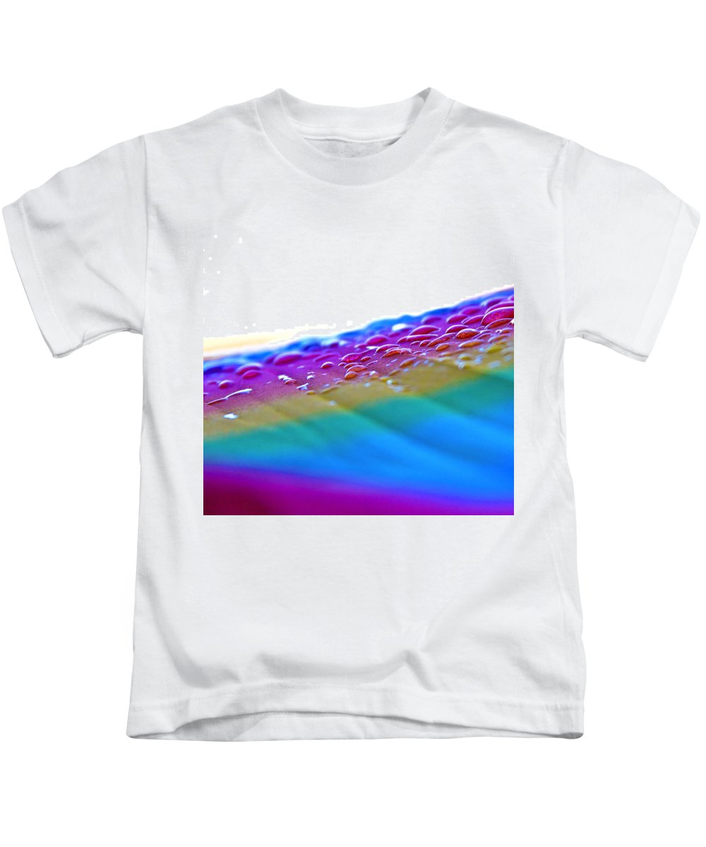 Rainbow Kids T-Shirt featuring the photograph Raindrops On My Umbrella by Karon Melillo DeVega