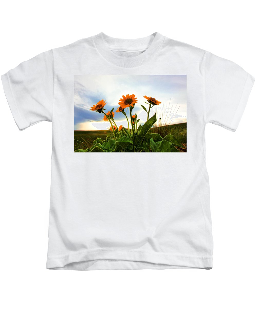 Wild Flowers Kids T-Shirt featuring the photograph Reach To The Heavens II by Athena Mckinzie