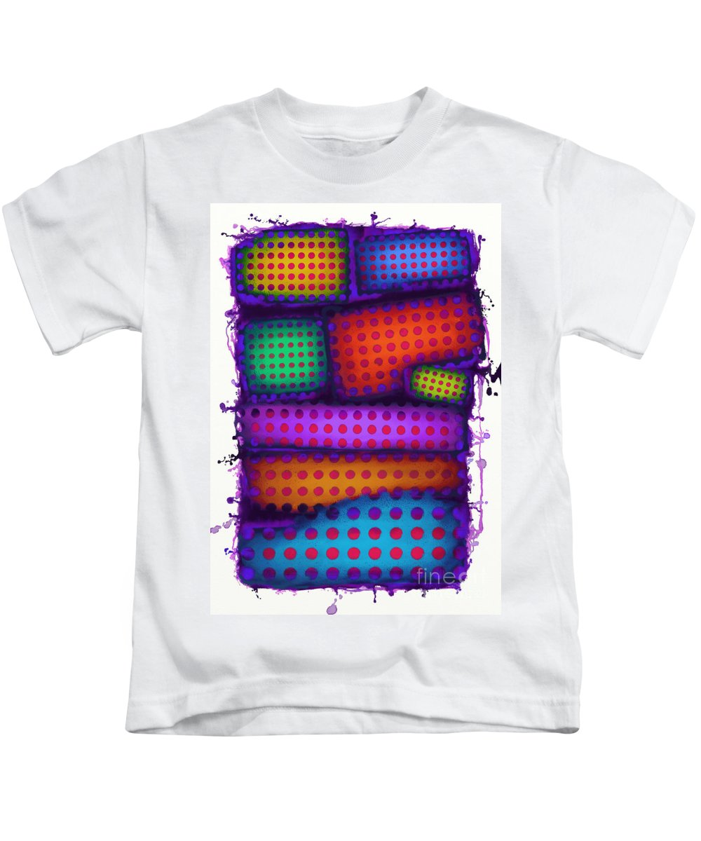 Reactive Wall Kids T-Shirt featuring the digital art Reactive Wall by Keith Mills