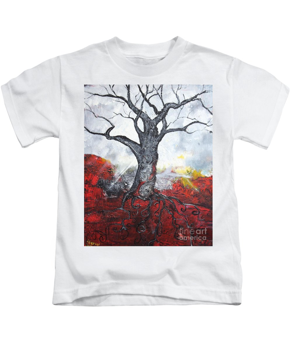Impressionism Kids T-Shirt featuring the painting Read My Bark by Stefan Duncan