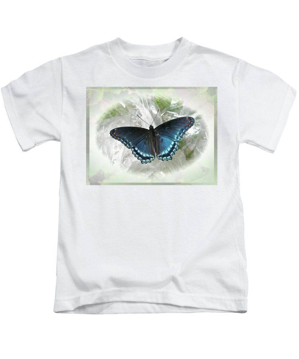 Butterfly Kids T-Shirt featuring the photograph Red-spotted Purple Butterfly - Limenitis Arthemis by Mother Nature