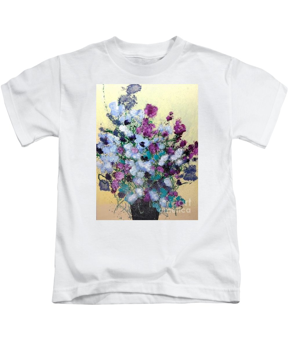 Landscape Kids T-Shirt featuring the painting Remembering When by Allan P Friedlander