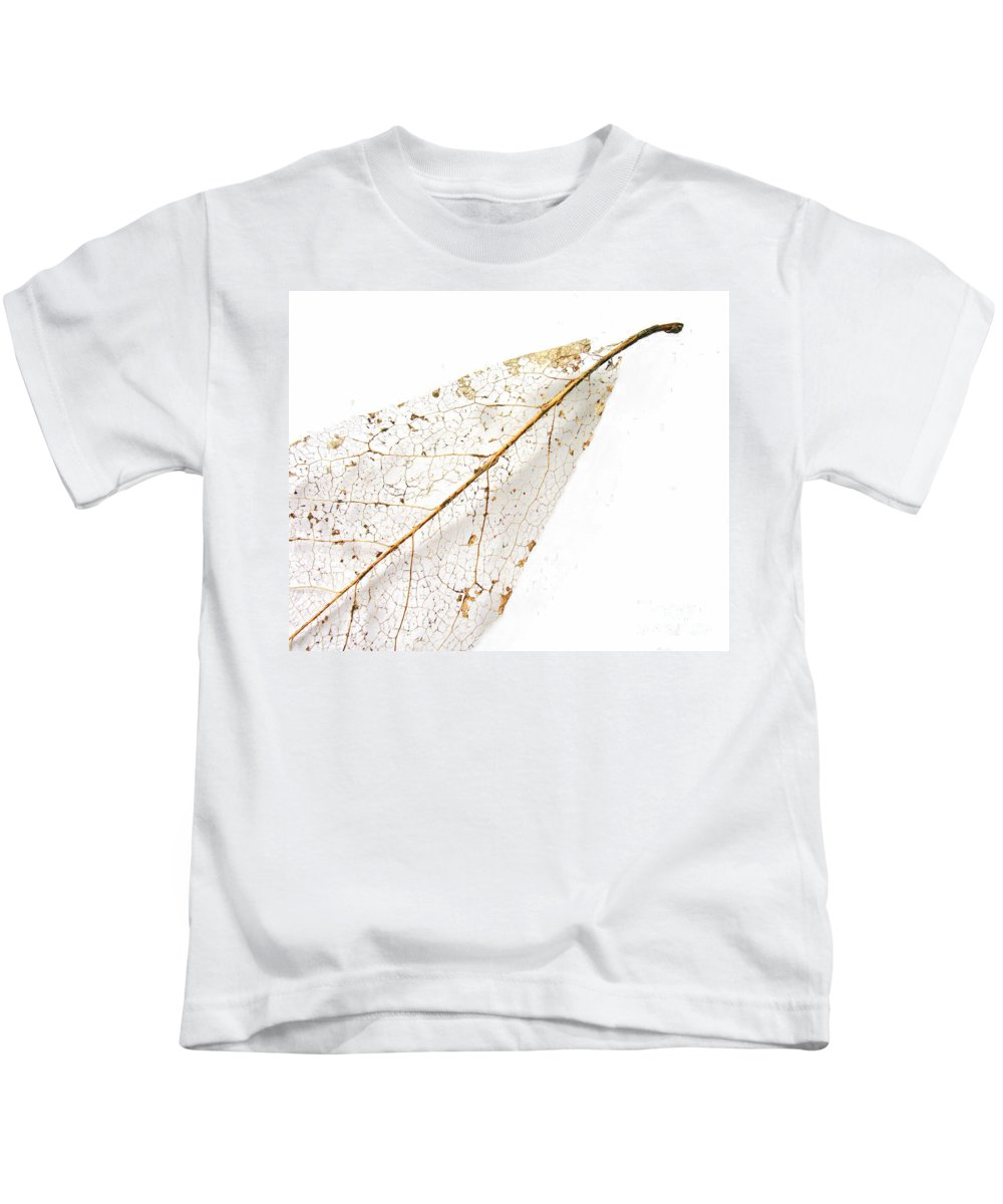 Leaf Kids T-Shirt featuring the photograph Remnant Leaf by Ann Horn