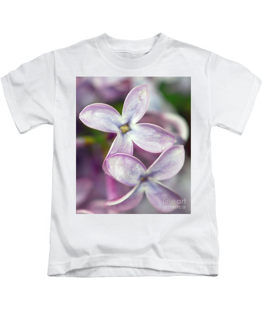 Lilac Kids T-Shirt featuring the photograph Renewal by Kerri Farley