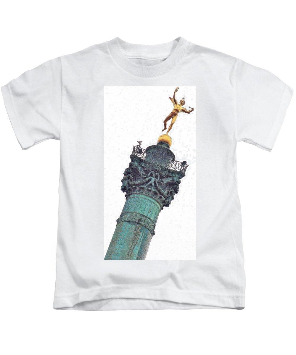Paris Kids T-Shirt featuring the photograph Risky Business by Ira Shander