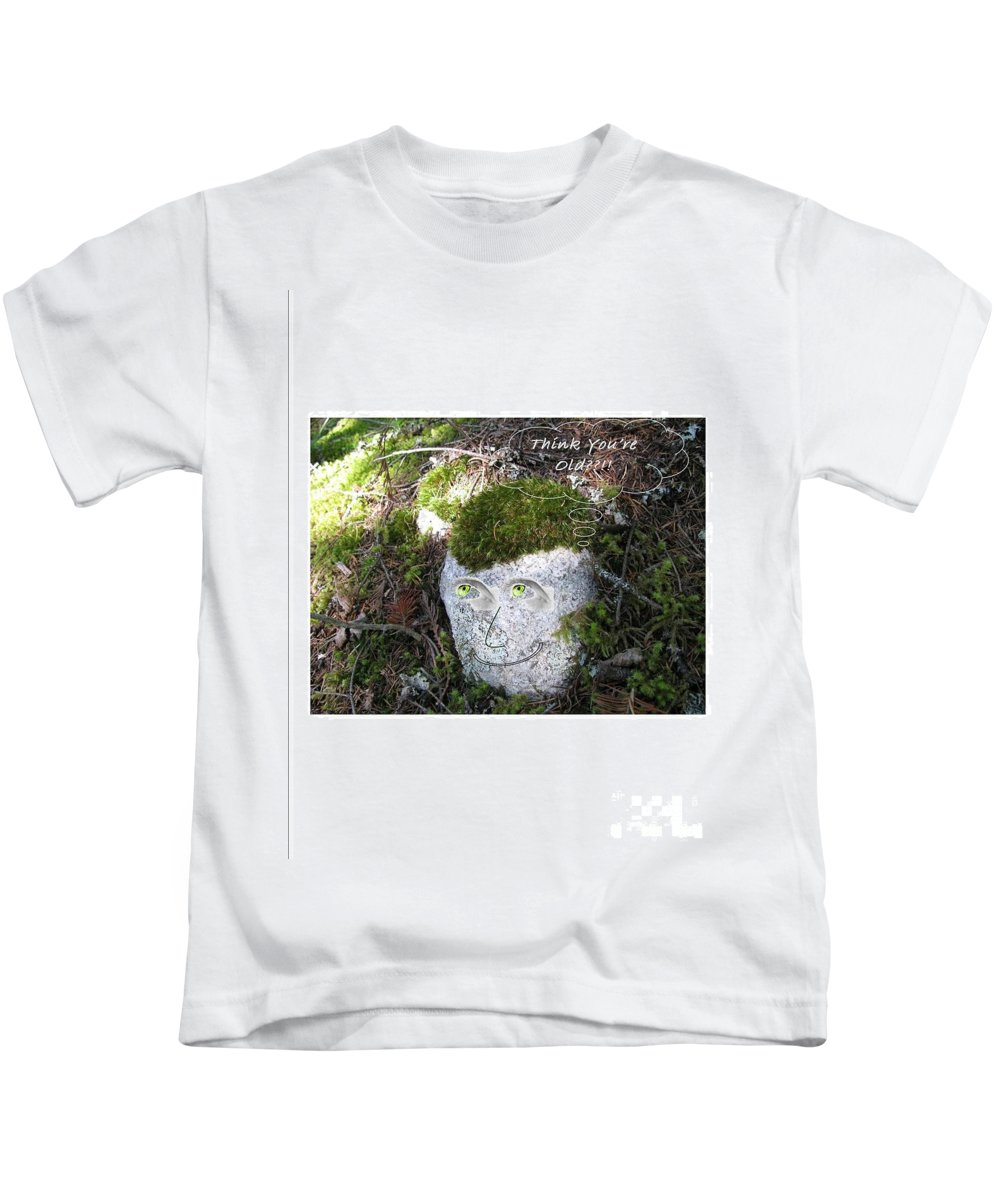 Rock Kids T-Shirt featuring the photograph Rock Face by Leone Lund