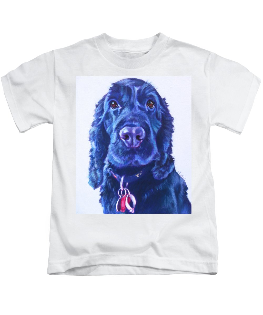 Cocker Spaniel Kids T-Shirt featuring the painting Rocky by Deborah Cullen