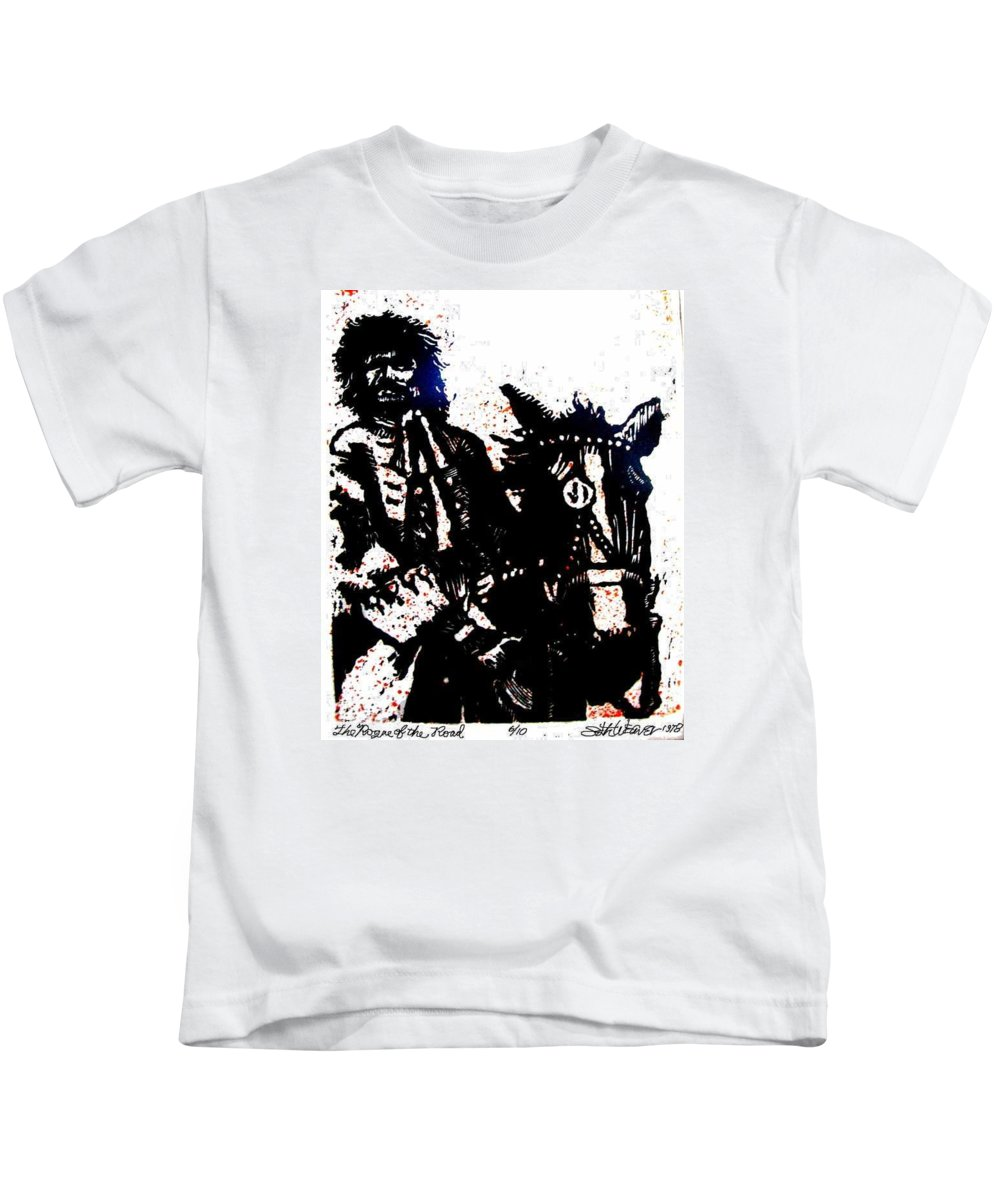 English Highwayman Kids T-Shirt featuring the mixed media Rogue Of The Road by Seth Weaver