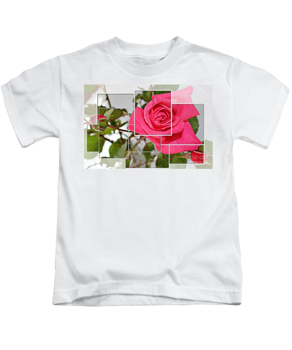 Rose Montage Kids T-Shirt featuring the photograph Rose Montage by Barbara Griffin