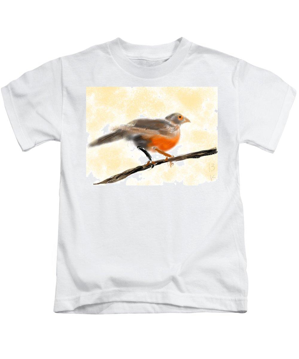 Sabia Kids T-Shirt featuring the digital art Sabia by Beth Klock