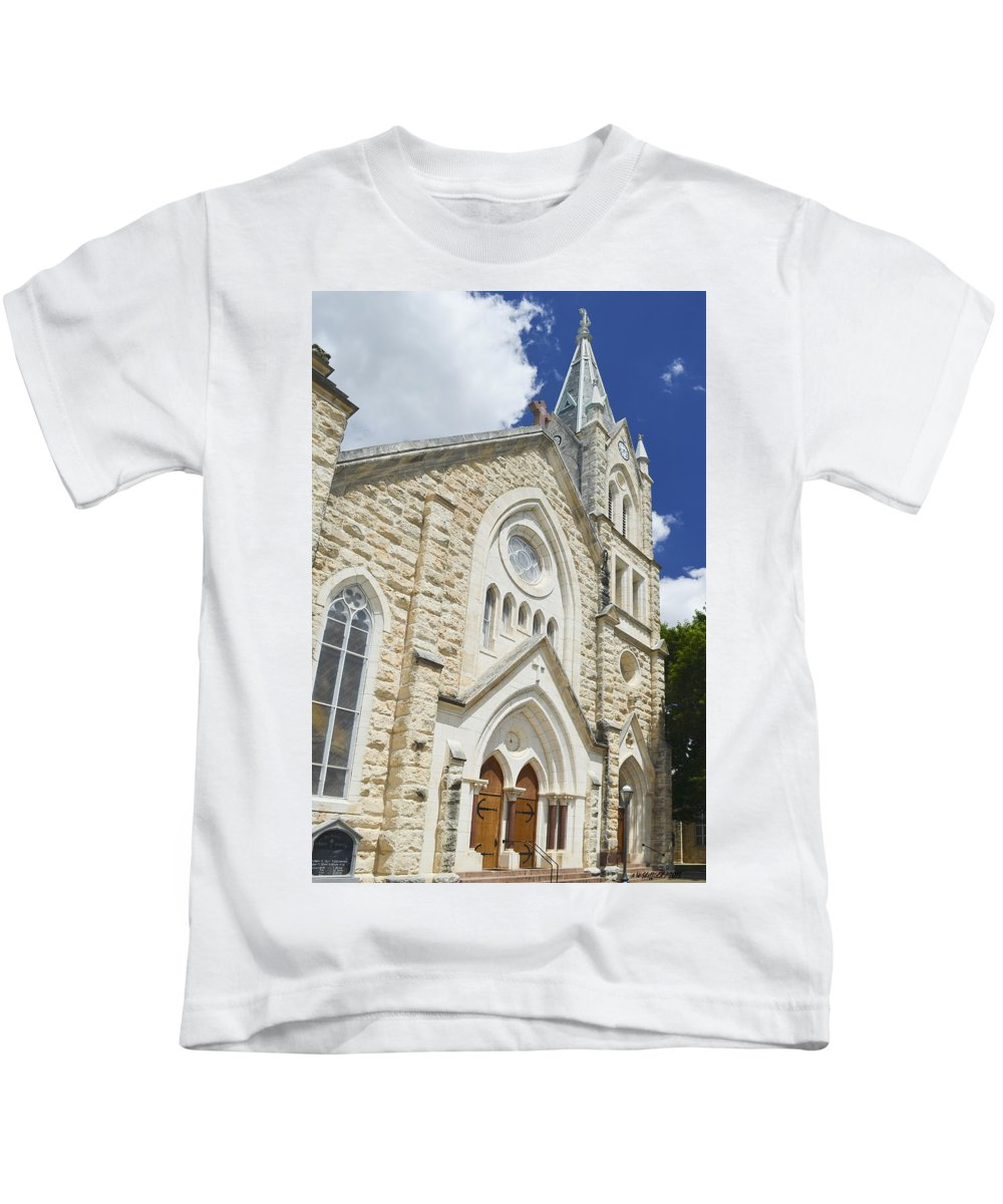 Fredericksburg Kids T-Shirt featuring the photograph Saint Mary's Catholic Church by Allen Sheffield