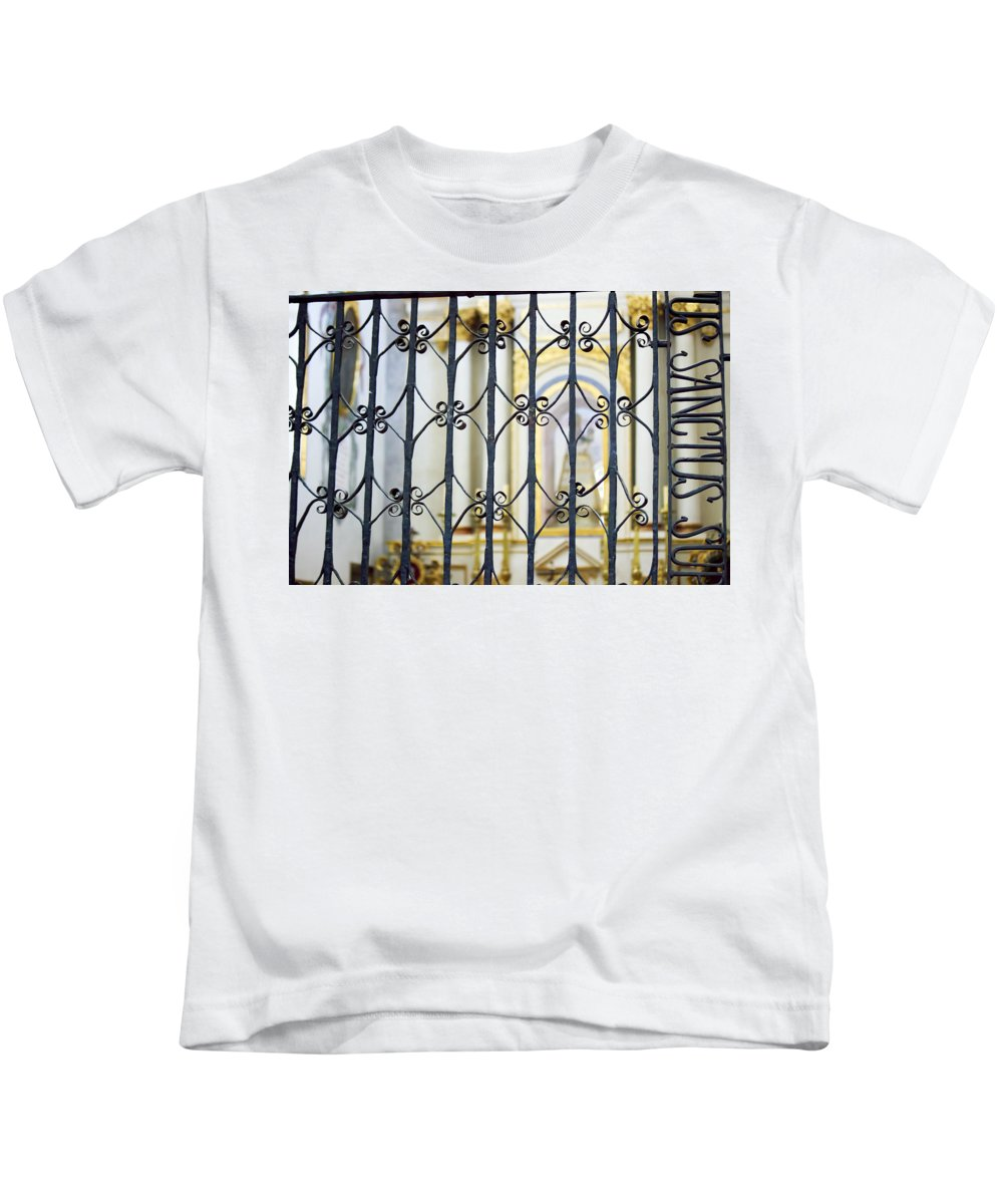 Sistine Chapel Of Mexico Kids T-Shirt featuring the photograph Sanctuary Atotonilco by Cathy Anderson