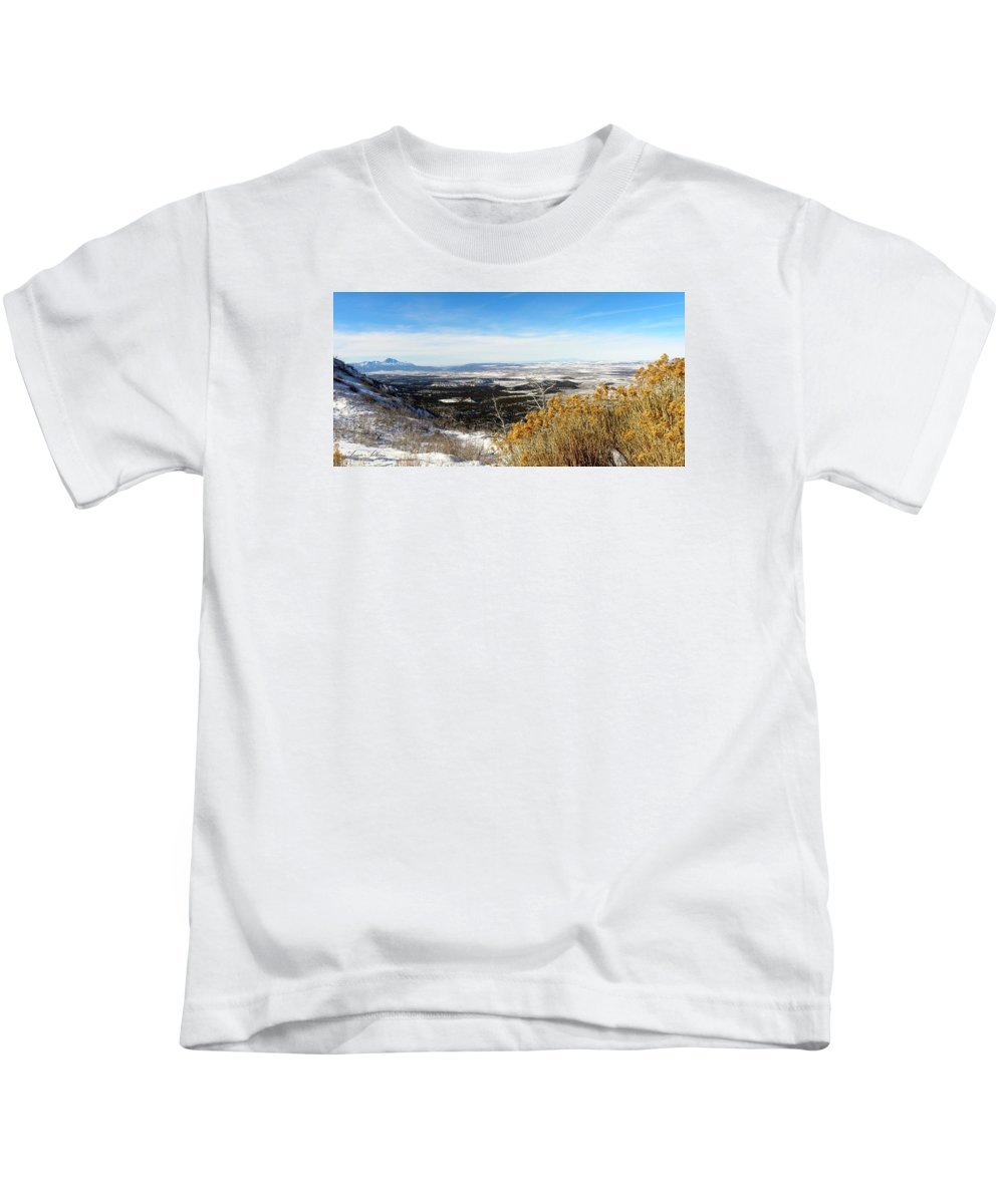Scenic Vista Kids T-Shirt featuring the photograph Scenic Vista by Annie Adkins