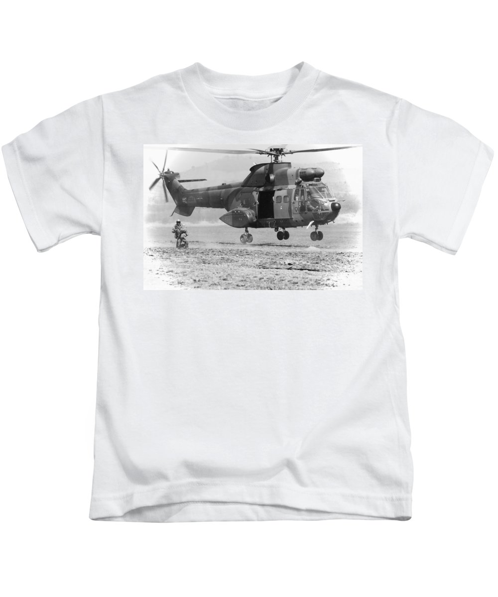 Atlas Oryx Kids T-Shirt featuring the photograph Secure The Lz by Paul Job