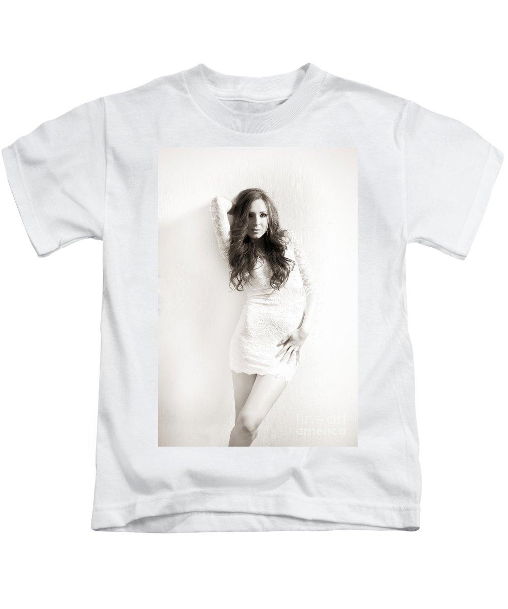 Attractive Kids T-Shirt featuring the photograph Sepia Portrait by Jochen Schoenfeld