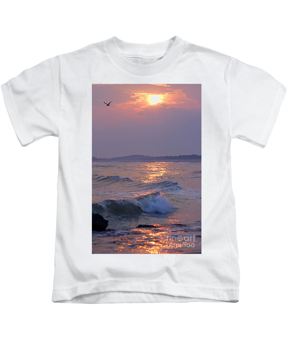 Ocean Kids T-Shirt featuring the photograph Serenity by Anthony Sacco