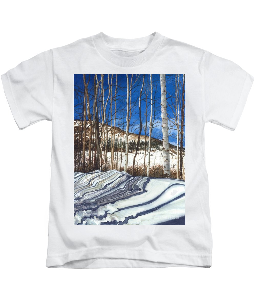 Water Color Paintings Kids T-Shirt featuring the painting Shadow Dance 1 by Barbara Jewell