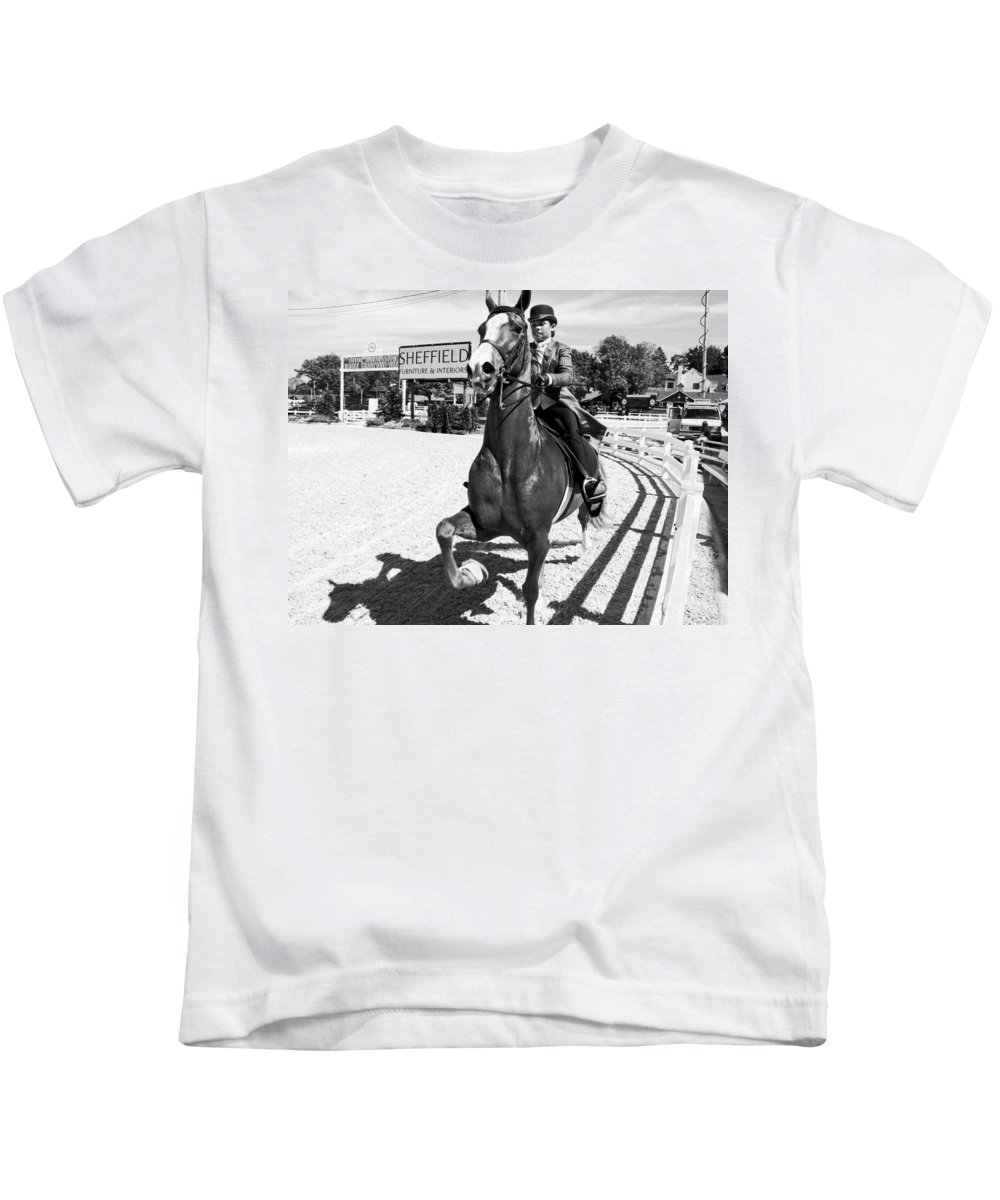 Horse Kids T-Shirt featuring the photograph Sheffield by Alice Gipson