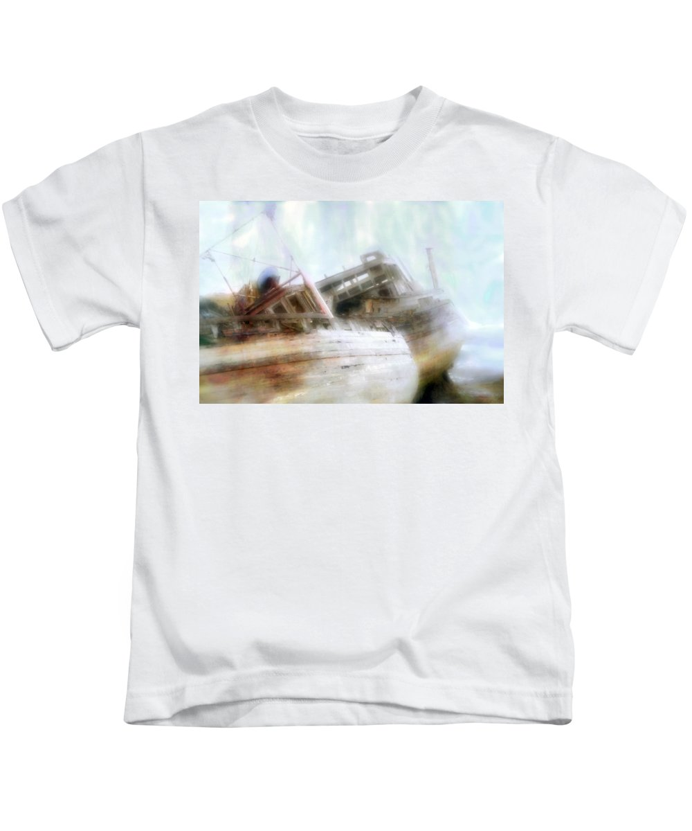 Mull Kids T-Shirt featuring the photograph Shipwrecked by Hal Halli