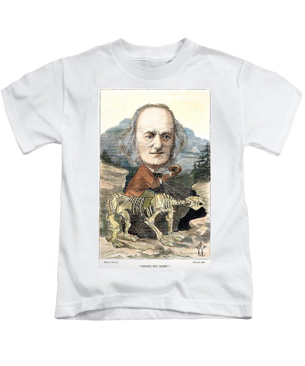 1872 Kids T-Shirt featuring the photograph Sir Richard Owen (1804-1892) by Granger