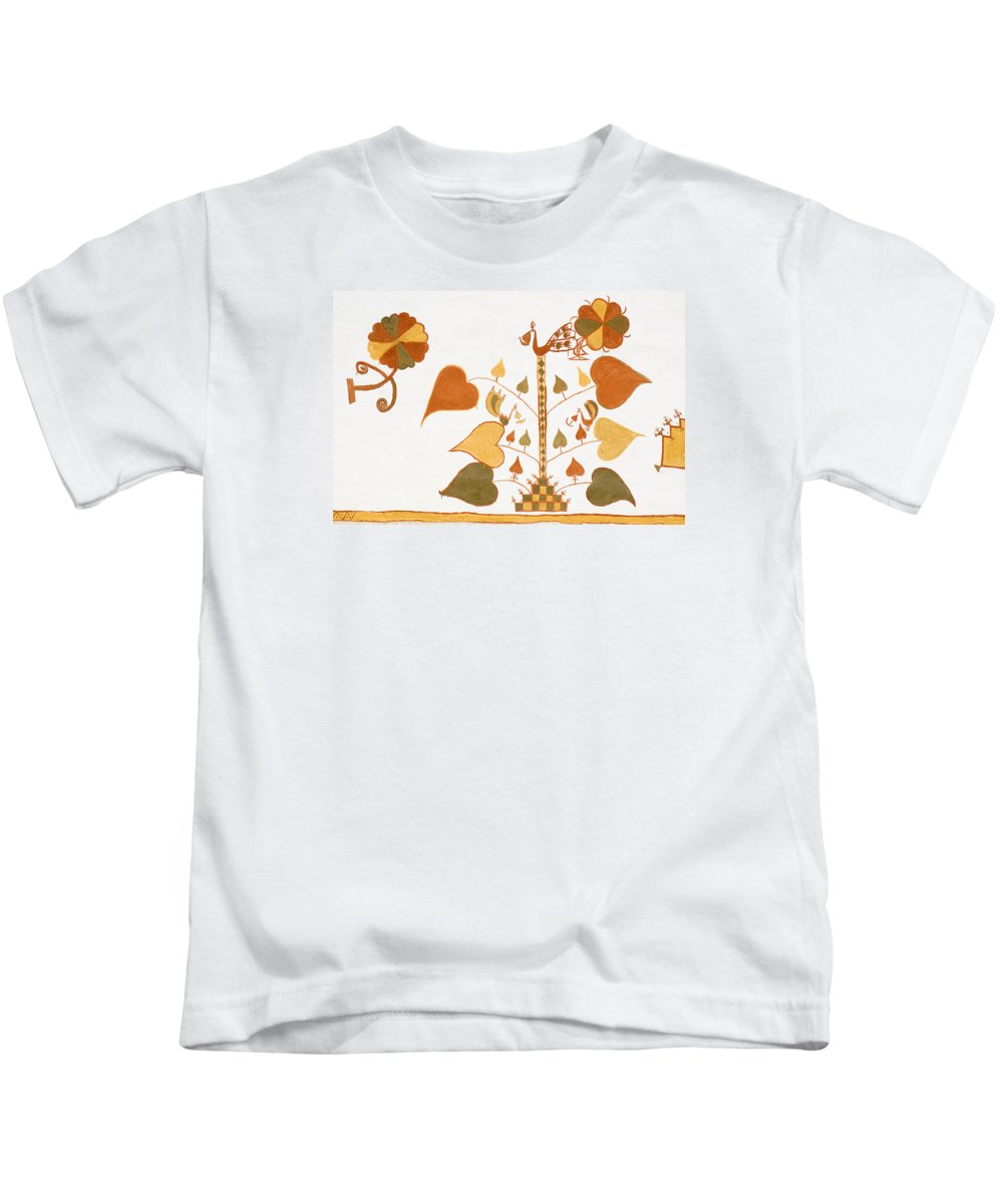 Painting Kids T-Shirt featuring the photograph Skn 1399 Painting Media by Sunil Kapadia