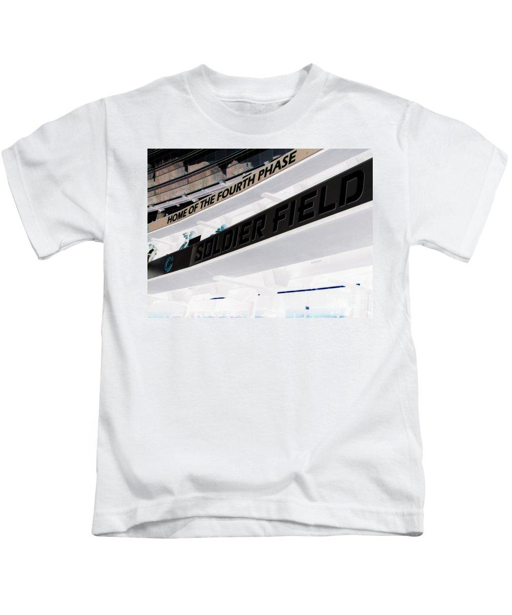 Soldier Field Kids T-Shirt featuring the photograph Soldier Field by Michael Krek