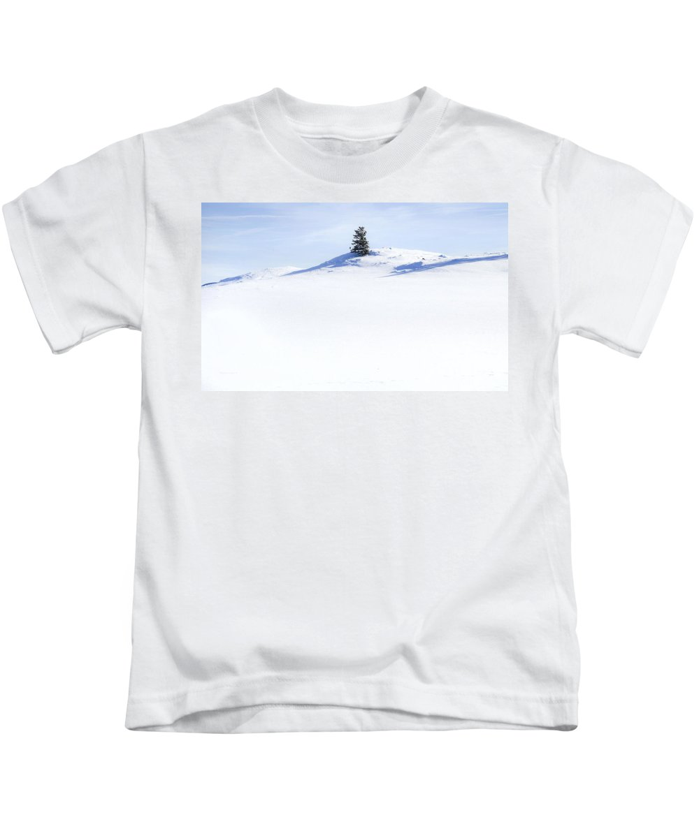 Solitary Kids T-Shirt featuring the photograph Solitary by Theresa Tahara