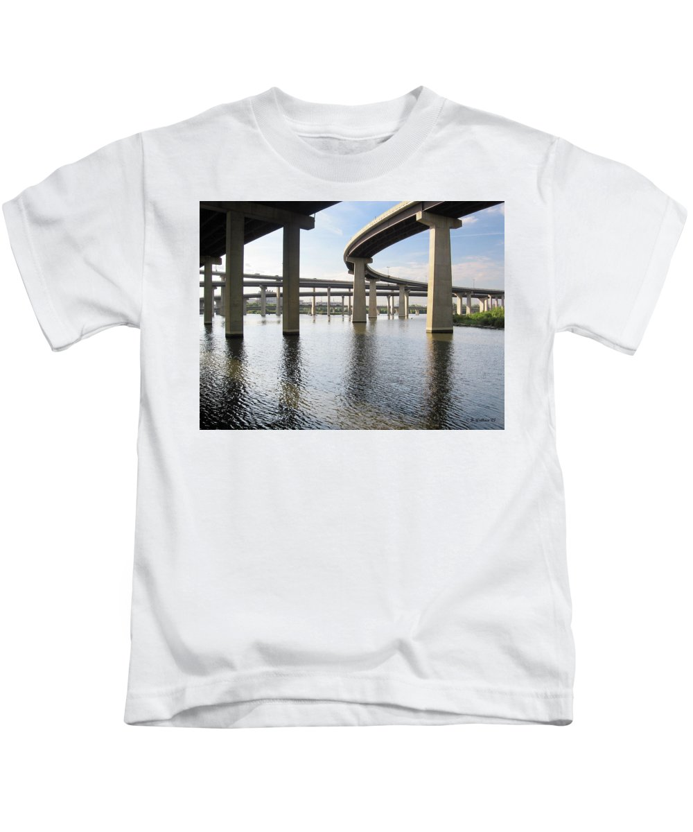 2d Kids T-Shirt featuring the photograph South Baltimore Bypass by Brian Wallace