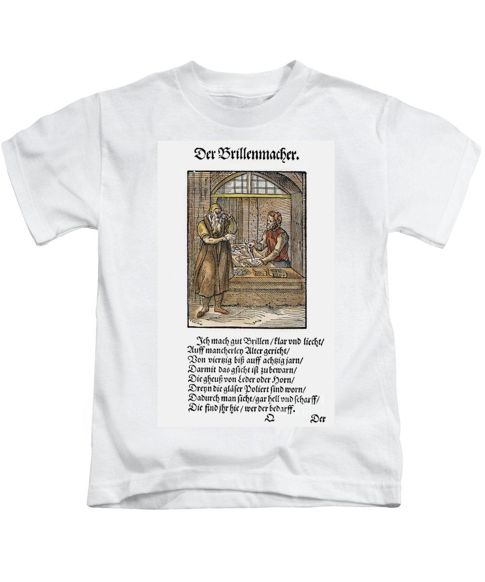 1568 Kids T-Shirt featuring the photograph Spectacle Maker, 1568 by Granger