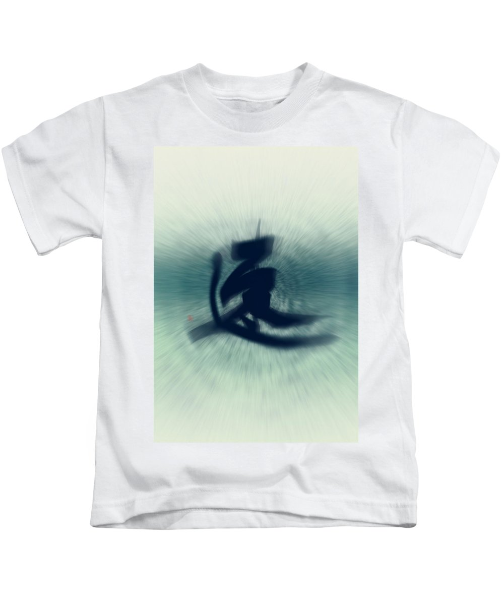Speed Kids T-Shirt featuring the painting Speed - Modern Japanese Calligraphy by Ponte Ryuurui