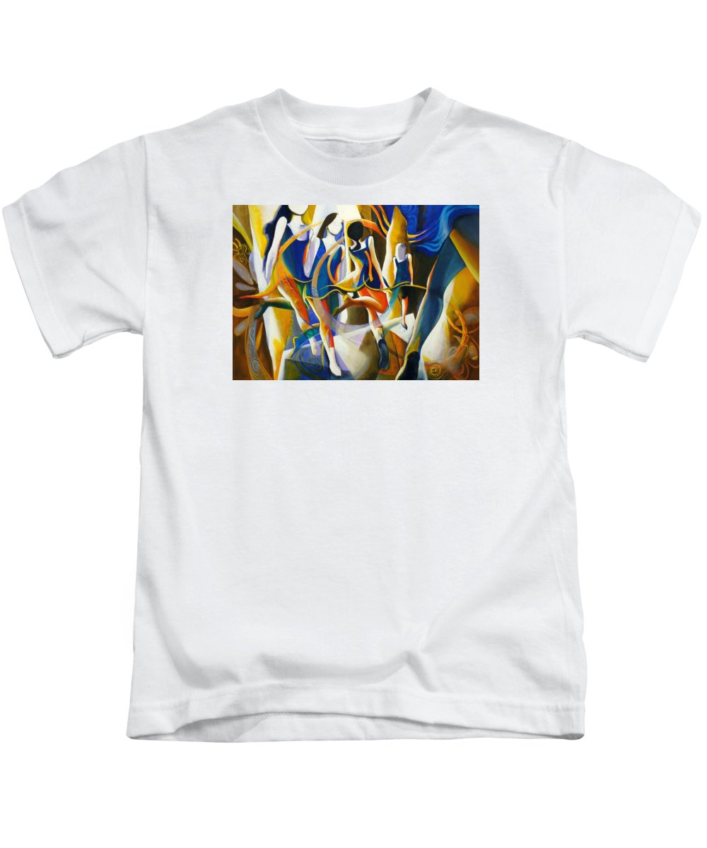 Dance Kids T-Shirt featuring the painting Spirited Away by Georg Douglas