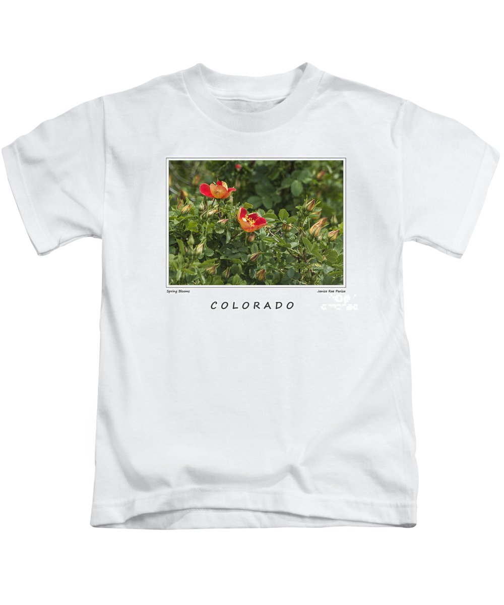 Garden Kids T-Shirt featuring the photograph Spring Blooms In Colorado by Janice Pariza