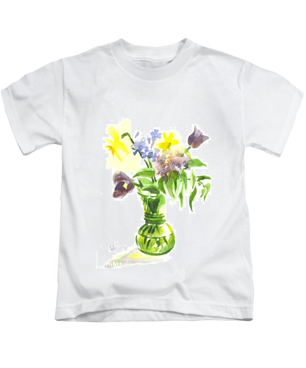 Spring Bouquet Iii Kids T-Shirt featuring the painting Spring Bouquet IIi by Kip DeVore