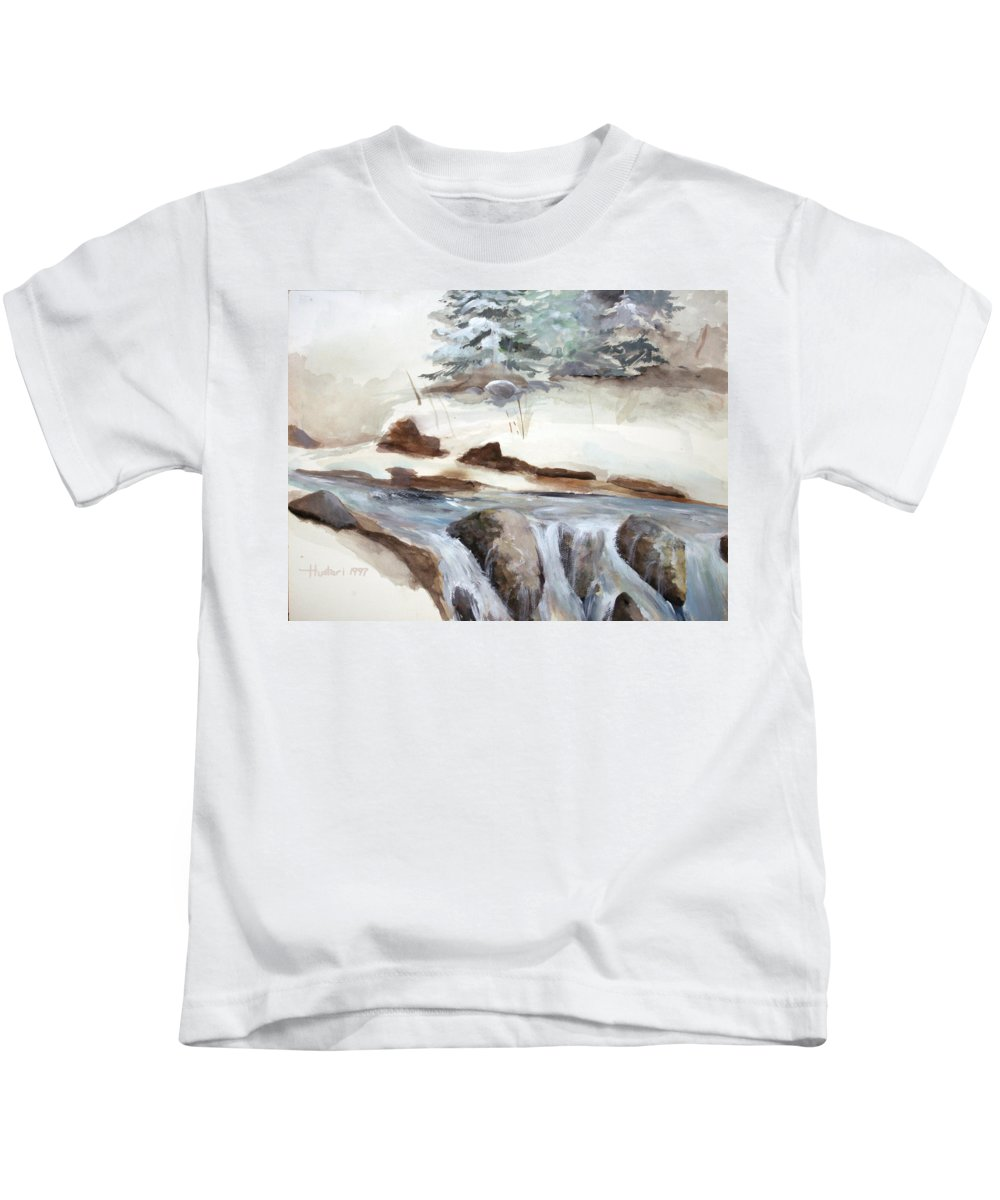 Rick Huotari Kids T-Shirt featuring the painting Springtime by Rick Huotari