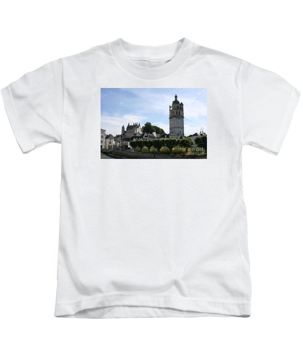 View Kids T-Shirt featuring the photograph St. Antoine Tower And The Chateau De Loches by Christiane Schulze Art And Photography